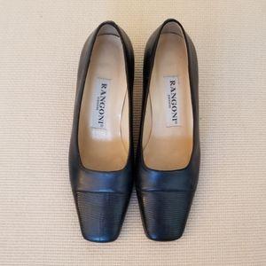 Rangoni Italian leather square heel pump